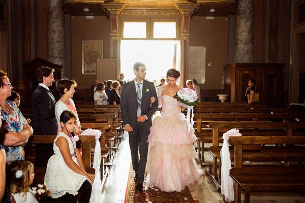 L'entrata in chiesa della sposa