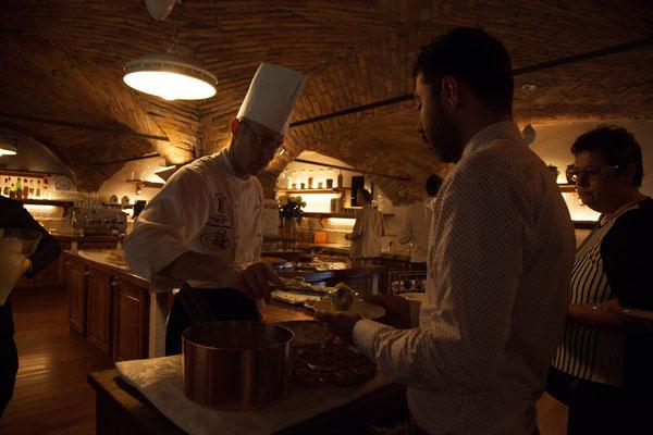 Cucina a vista a Villa Valenca a Rovato