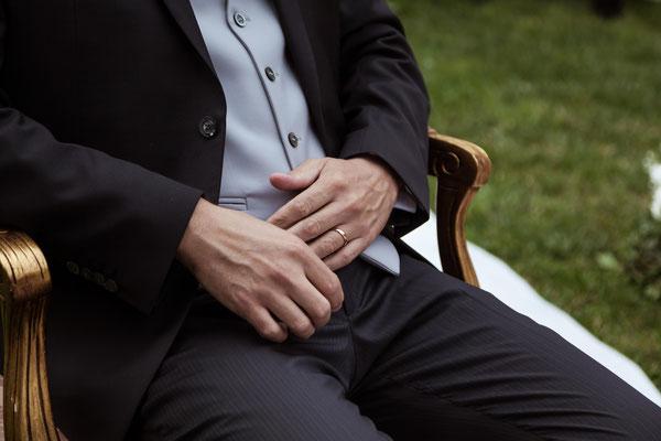 Le mani dello sposo