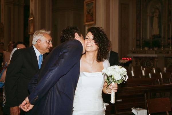Il primo bacio degli sposi