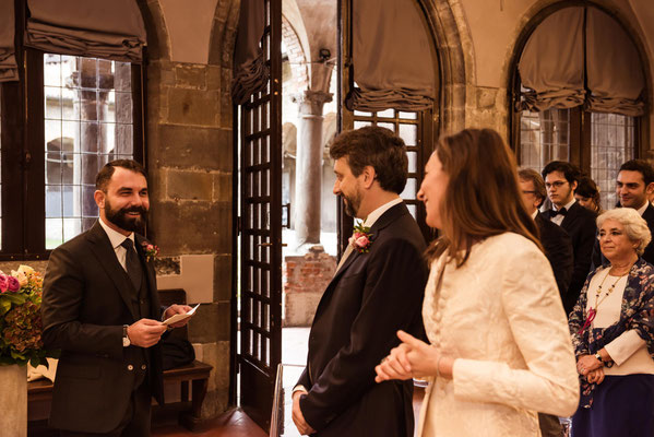 Rito civile al Convento di San Francesco a Città Alta a Bergamo