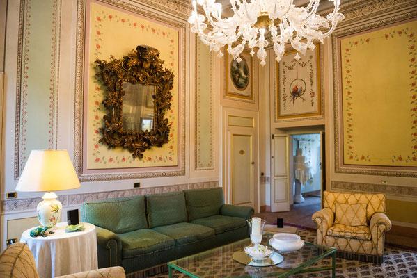 Gli interni di Villa Valenca a Rovato