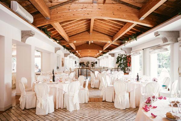 La sala del ricevimento a Cascina San Carlo a Vidalengo