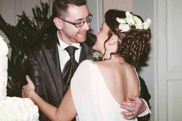 Abbraccio  degli sposi