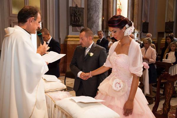 Gli sposi in chiesa