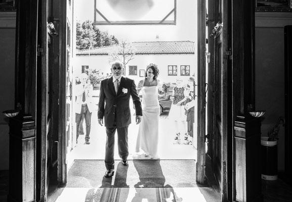 L'entrata della sposa in chiesa