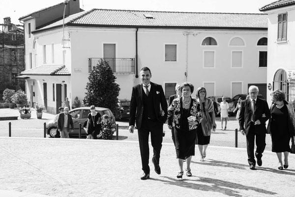 Arrivo dello sposo in chiesa