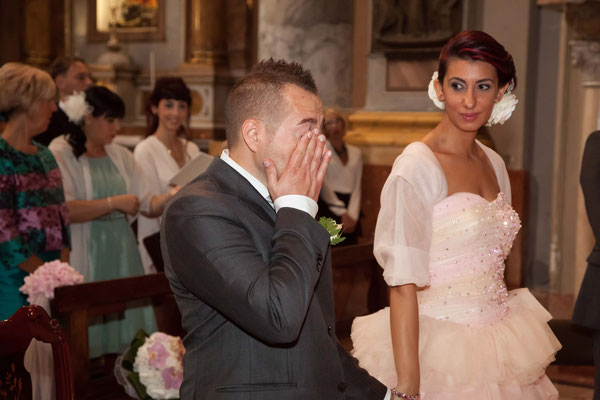 La commozione dello sposo
