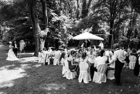 Il ricevimento nel giardino di Villa Benvenuti