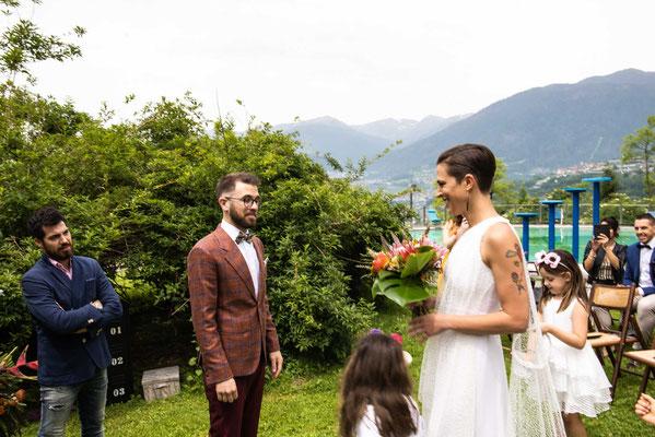 Il primo sguardo tra gli sposi