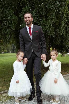 Ritratto dello sposo con le figlie