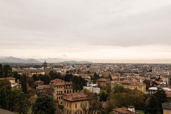 Vista dall'alto della città di Bergamo