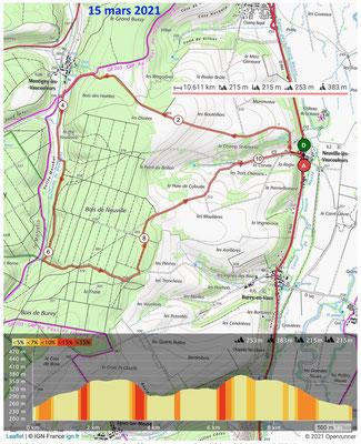 Le 15 mars 2021, Forêt de NEUVILLE vers Montigny