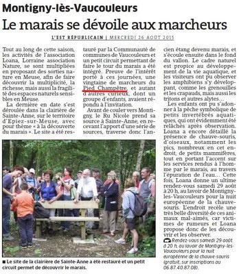 Visite du Marais lors du Pélerinage de Sainte Anne