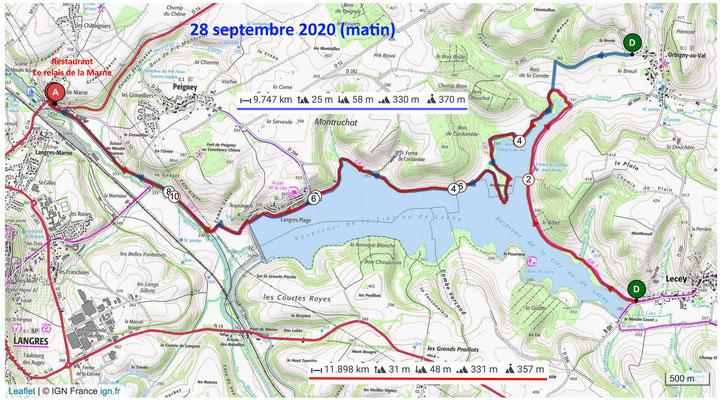 Le 28 septembre 2020 Lac de la Liez LANGRES