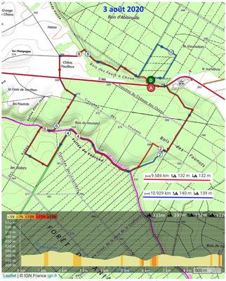 Le 3 août 2020, Forêt d'AMANTY et GONDRECOURT