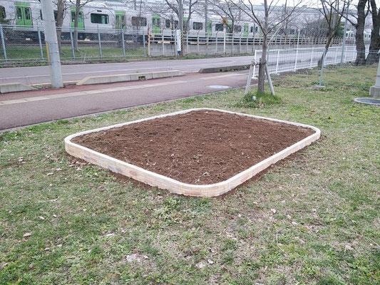 花壇ブロック取替工事