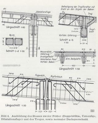 377-056 Abbildung des Stosses zweier Felder und des Troges sowie Dachquerschnitt