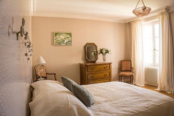 Suite familiale Chambre d'hôte Sauvignon lit flanc droit