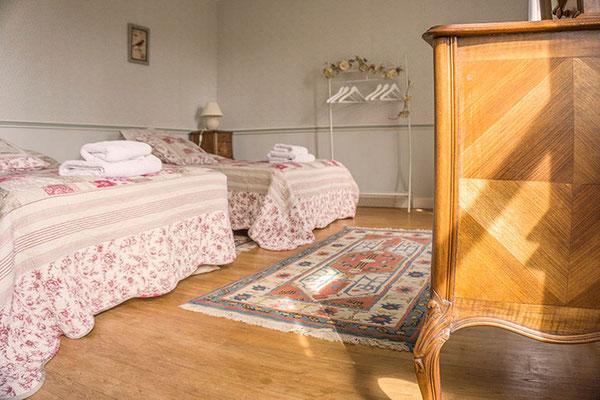 Suite familiale Chambre d'hôte Semillon, lits
