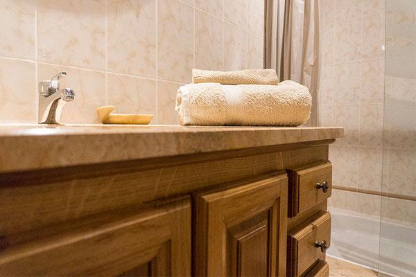 Chambre d'hôte Merlot, salle de bain
