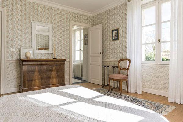 Chambre d'hôte Muscadelle, lit flanc droit