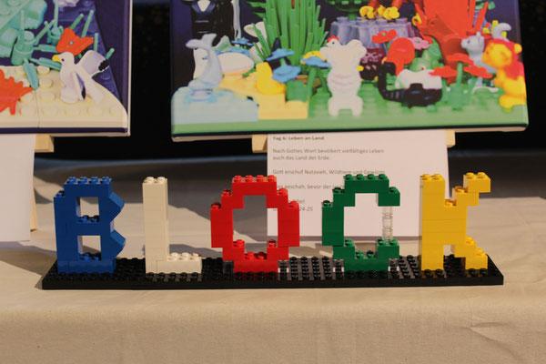 Sag's mit Legosteinen