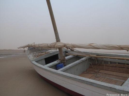 Lanches, embarcation des Imraguens sur le Banc d'Arguin Mauritanie