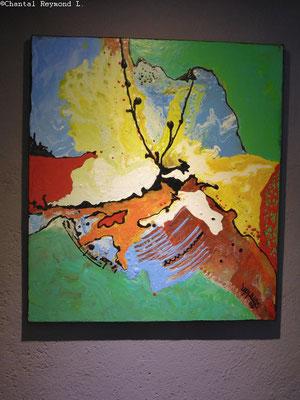 Tableau plein de couleur réalisé par Abdel Ali