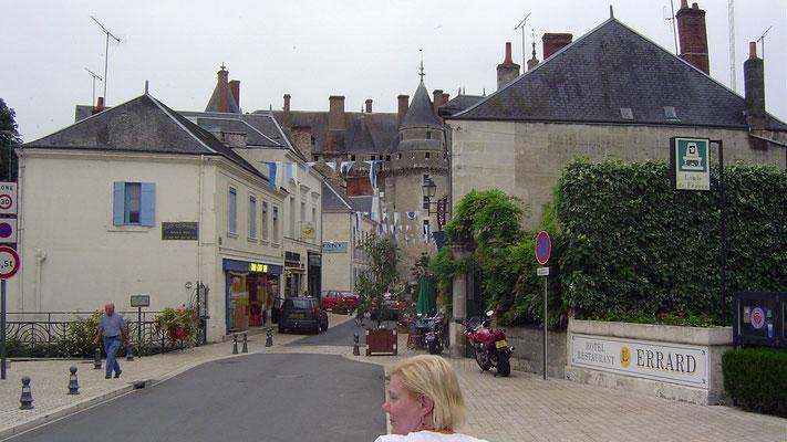 Ankunft in Langeais an der Loire