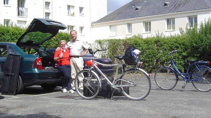 Wieder am Auto in Joué-les-Tours