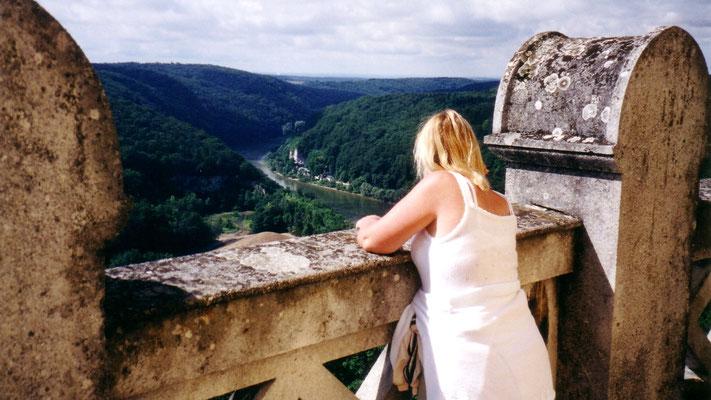 Vom Dach der Halle genießen wir einen wunderschönen Panorama-Blick