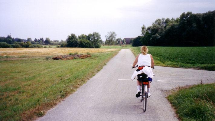 Es folgt eine schöne Strecke vorbei am Schloss Grünau. Tagesziel: Ingostadt (67 km)