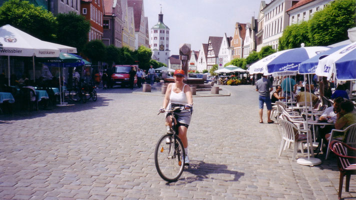 Günzburg, unsere erste Zwischenstation nach Ulm