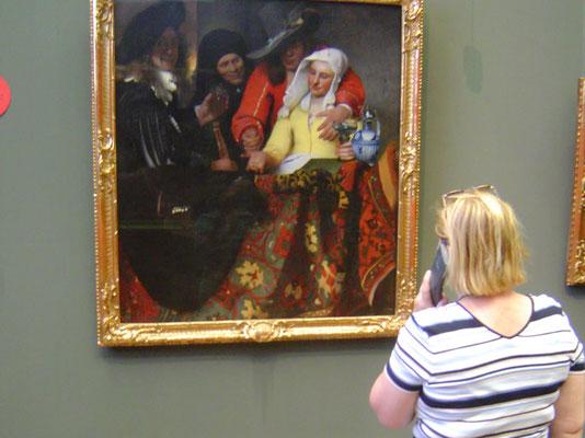 """Gemäldegalerie im Zwinger, hier:  """"Bei der Kupplerin"""" von Johannes Vermeer"""