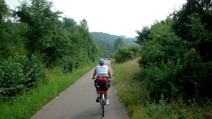 Fahrt entlang der Donau zur Walhalla, die hoch über der Donau thront (s. Hintergrund)