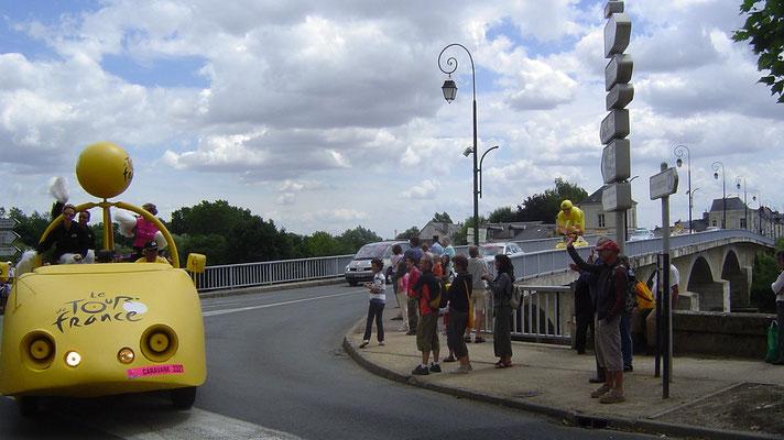 Am nächsten Tag kommt die Tour de France durch Chinon