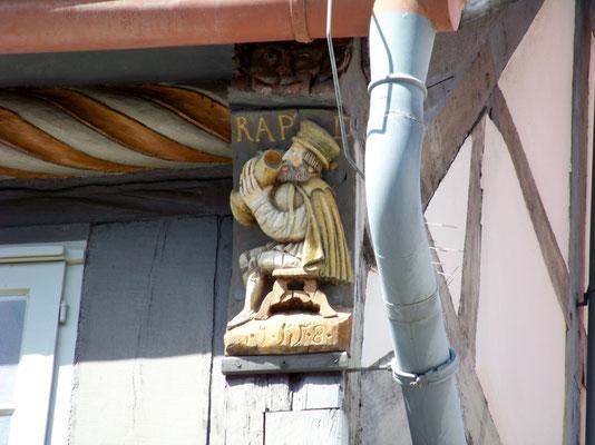 Hameln: Detail des Stiftsherrenhauses