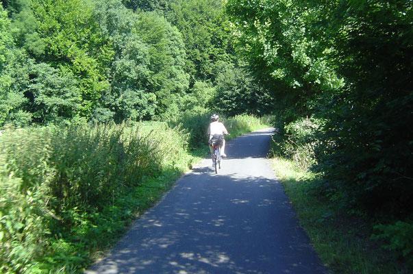 Nun kam der schönste Teil der Tour, die Abfahrt nach Höxter, eine 14 km lange Sausefahrt.