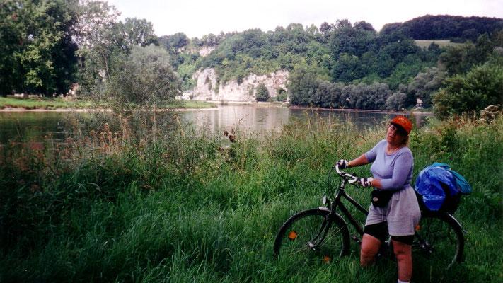 Am Kloster Weltenburg hat die Donau noch einmal einen Gebirgsdurchbruch zu schaffen.