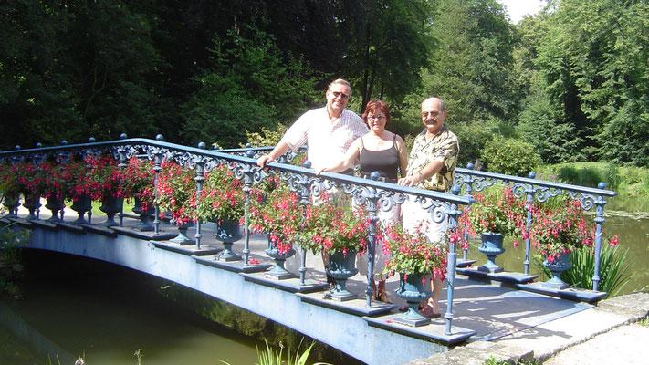 Ein Erinnerungsfoto an der Schlossbrücke