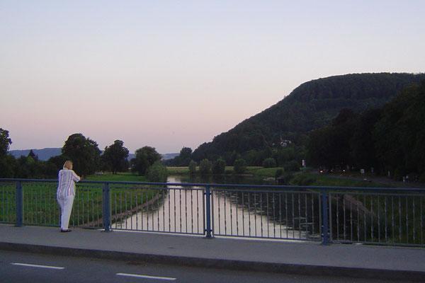 Der letzte Besuch galt der Weser, die das Ziel unseres 7-tägigen Strebens gewesen war.