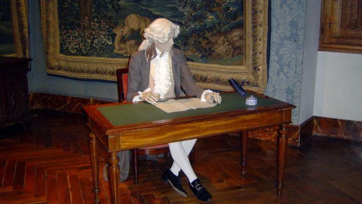 Eine französische Eigenart: lebensgroße Puppen in den Schlössern und Burgen