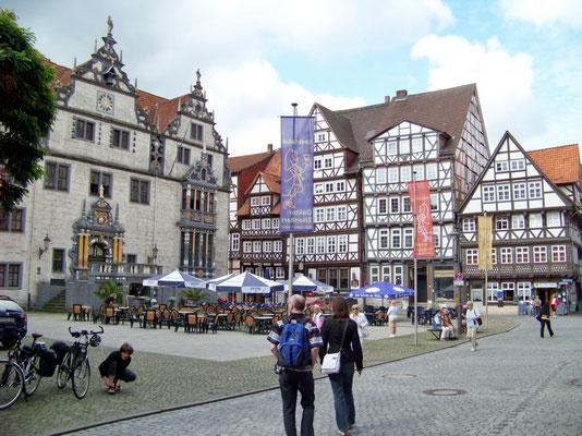 Hann Münden: Marktplatz und Rathaus