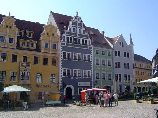 Marktplatz in Meißen mit dem Hotel am Markt