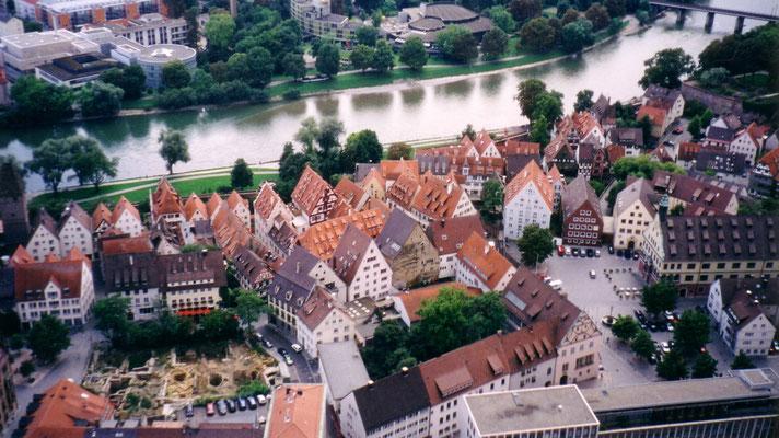 Blick vom Turm des Ulmer Münsters auf die Altstadt