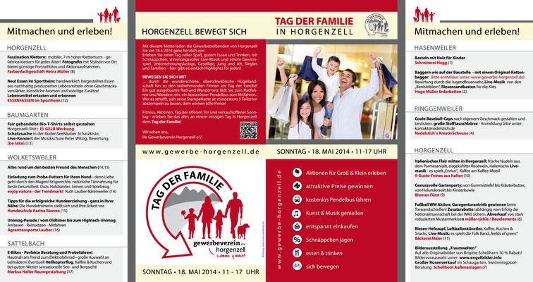 Flyer für Gewerbeverein Horgenzell
