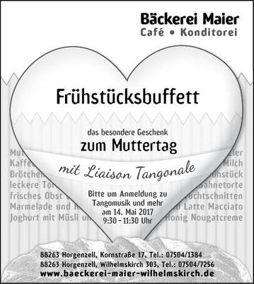 Anzeigen für Bäckerei Maier