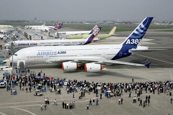 Gites des Camparros à Nailloux : inauguration de l'airbus A380