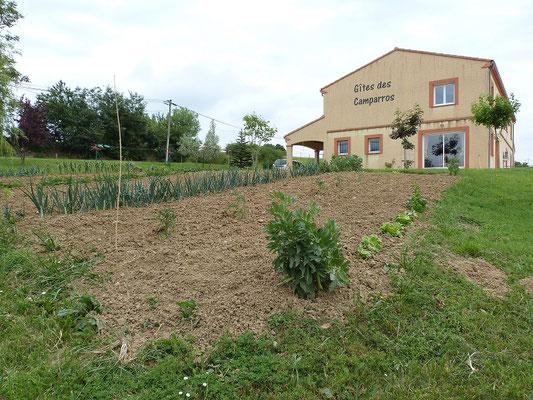 le potager aux Gites des Camparros à Nailloux